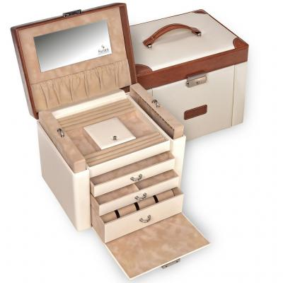 jewellery case Maxima, cream, travel