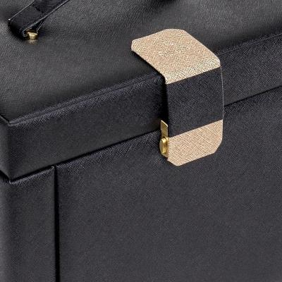 jewellery box Marta, black, saffiano