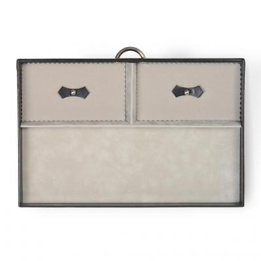 drawer A15 VARIO, leather, black, vario