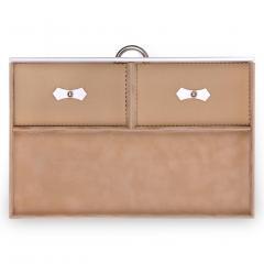 drawer A15 VARIO, leather, white, vario