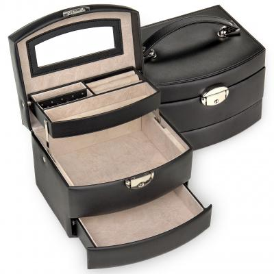 jewellery box Stella, black, standard