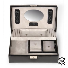 top-module incl. travel box VARIO/ black (leather)