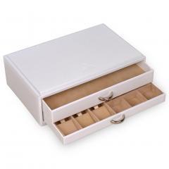 standard-module VARIO, leather, white, vario