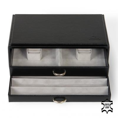 standard-module VARIO jewellery set, leather, black, vario