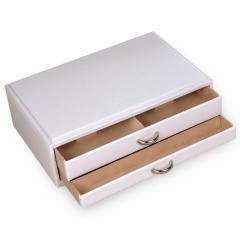 standard-module VARIO jewellery set, leather, white, vario