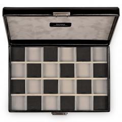 case with 24 compartments VARIO CASO, leather | black | vario caso