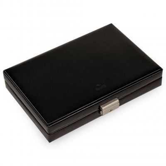 case for ear studs etc. VARIO CASO, leather, black, vario caso