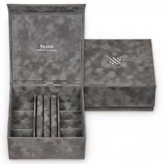 *While stock lasts* jewellery box Nora, grey, crystalo mit Swarovski® Kristallen