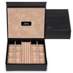 jewellery box Nora, black, new classic