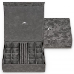 jewellery box Nora, grey, crystalo mit Swarovski® Kristallen