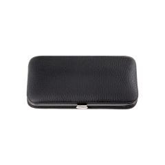 4 pcs. manicure set, leather, black, Maniküren