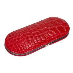 5 pcs. manicure set, leather | red | Maniküren