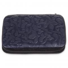 7 pcs. manicure set, leather | navy | ornamento