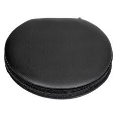 8 pcs. manicure set, leather, black, Maniküren